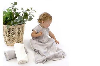 Bubba Blue Grey AIR+ Sleeping Bag Organic Cotton 3-12M