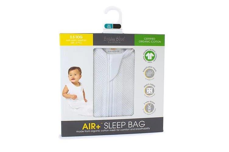 Bubba Blue White AIR+ Sleeping Bag Organic Cotton 12-24M