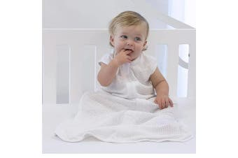 Bubba Blue White AIR+ Sleeping Bag Organic Cotton 24-36M