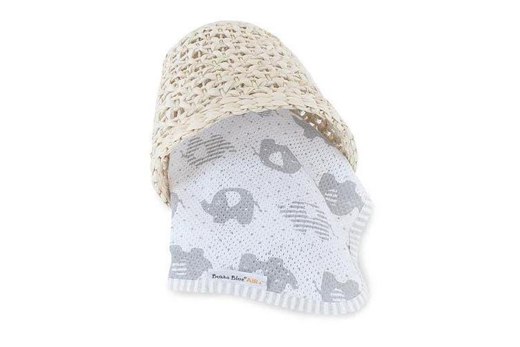 Bubba Blue Petite Elephant AIR+ Swaddle Wrap Organic Cotton 100x100cm