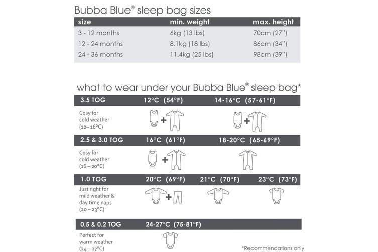 Bubba Blue Petite Elephant AIR+ Sleeping Bag 3-12M