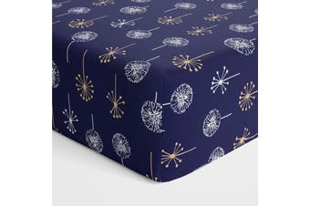 Bubba Blue Bamboo Jersey Cot Fitted Sheet Night Sky