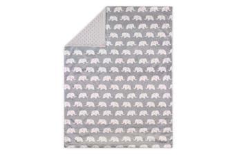 Little Haven Velour Pram Blanket Elephant