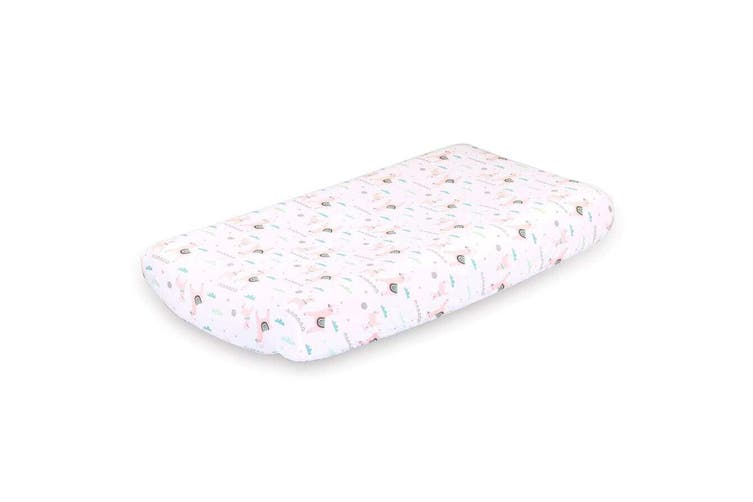 Little Haven 2Pk Bassinette Fitted Sheet Llama