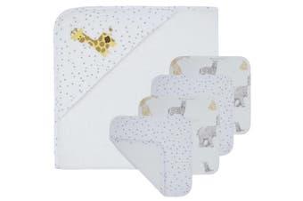 Living Textiles 5pc Bath Gift Set Savanna Babies/Dots