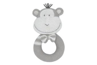 Living Textiles Max the Monkey Knitted Rattle
