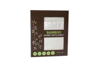 Bubba Blue White Bamboo Bassinet Waffle Blanket