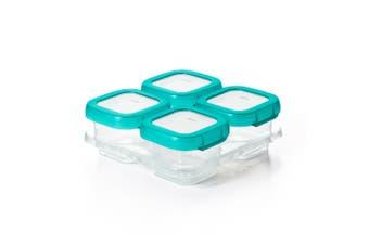 Oxo Tot Baby Blocks Freezer Storage Container Set 4oz 4Pc Teal