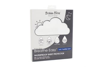 Bubba Blue Breathe Easy® Waterproof Sheet Protector - Cot / Toddler Bed
