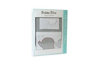 Bubba Blue Petit Elephant Emb Cot Sheet Set