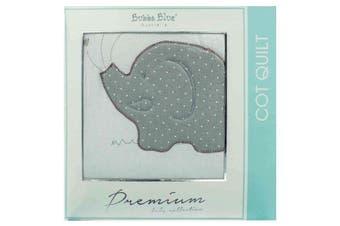 Bubba Blue Petit Elephant Cot Quilt / Comforter