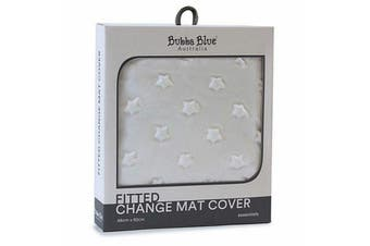 Bubba Blue Everyday Essentials Sherpa Change Mat Cover White