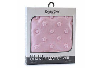 Bubba Blue Everyday Essentials Sherpa Change Mat Cover - Pink