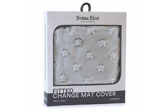Bubba Blue Everyday Essentials Sherpa Change Mat Cover - Grey