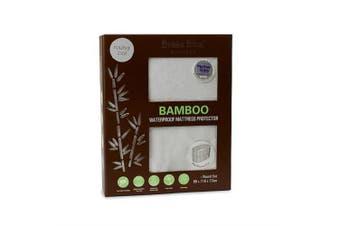 Bubba Blue Round Cot Bamboo Waterproof Mattress Protector