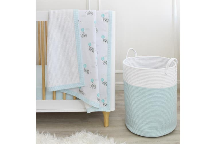 Living Textiles Cot Waffle Baby Blanket Dream Big