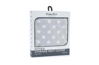 Bubba Blue Polka Dots Change Mat Cover Grey
