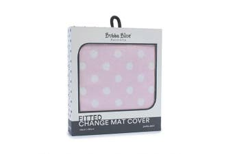Bubba Blue Polka Dots Change Mat Cover Pink