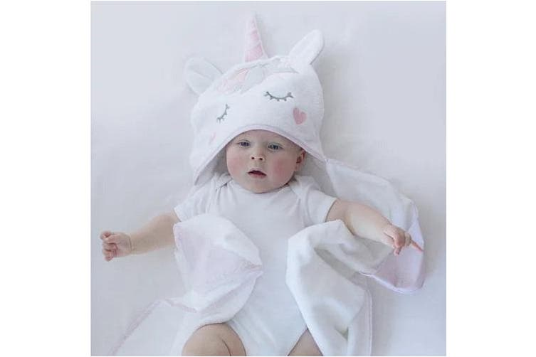 Bubba Blue Novelty Baby Bath Towel Unicorn Magic
