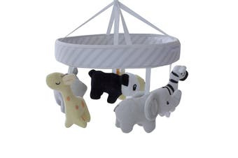 Bubba Blue Zoo Animals Musical Cot Mobile (with room thermometer)