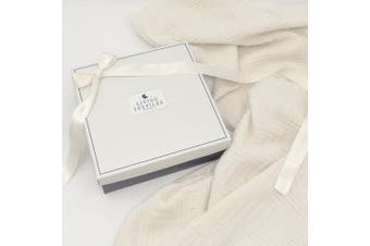 Living Textiles Merino Wool Pram Blanket Cream