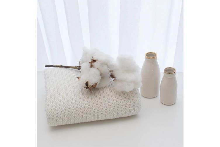 Living Textiles Organic Cotton Bassinet/Cradle Cellular Blanket Natural white