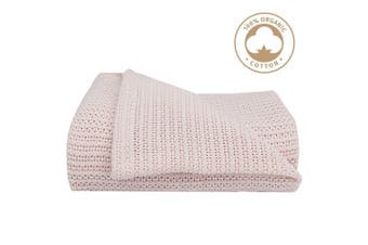 Living Textiles Organic Bassinet/cradle Cellular Baby Blanket Rose quartz