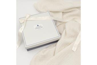 Living Textiles Merino Wool Blanket Cot Cream