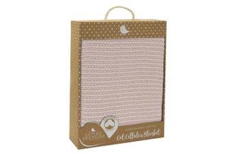 Living Textiles Organic Cotton Cot Cellular Blanket Rose quartz