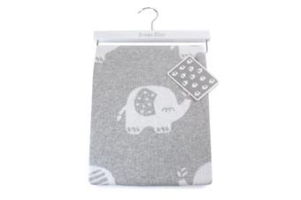 Bubba Blue Petit Elephant Cotton Knit Baby Kids Blanket