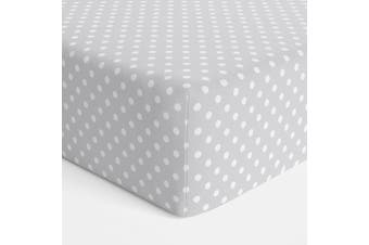 Bubba Blue Polka Dots Bassinet Jersey Fitted Sheet Grey