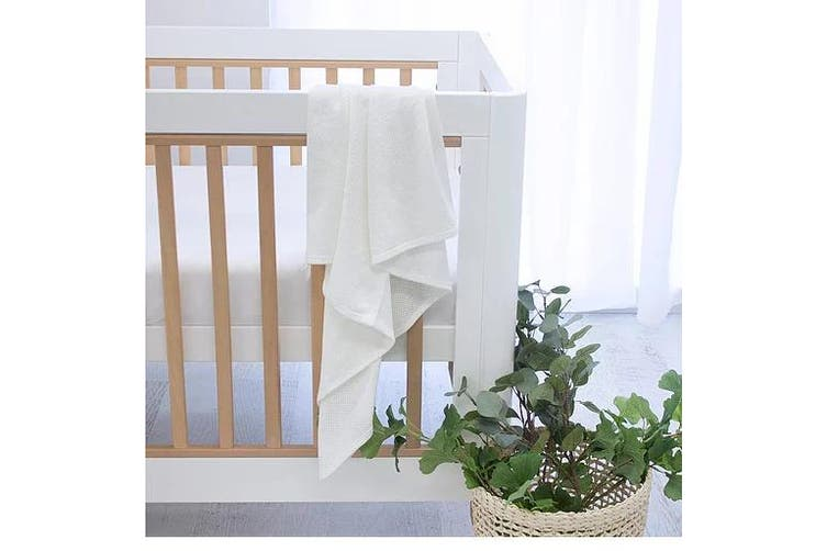 Bubba Blue White AIR+ Baby Swaddle Wrap