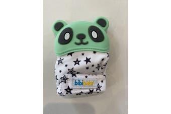 BibiBaby Bibimitt Teething Soothing Baby Mitten Glove Mint Panda