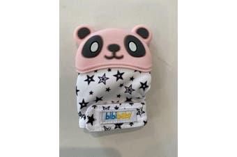 BibiBaby Bibimitt Teething Soothing Baby Mitten Glove Pink Panda