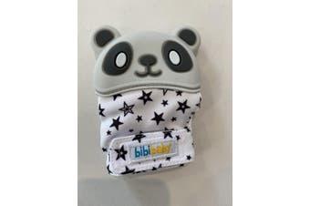 BibiBaby Bibimitt Teething Soothing Baby Mitten Glove Grey Panda