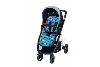 Cuddelco ComfiCush Pram Stroller Seat Liner Blue Spots