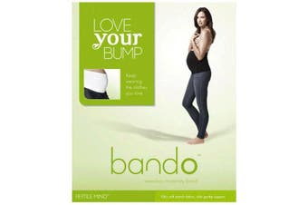 Love Your Bump Bando Belly Band White Size S-M