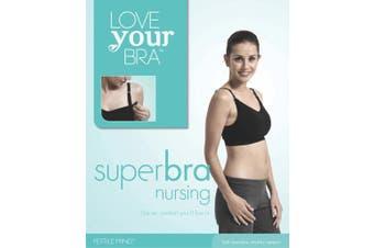 Love Your Bump Nursing Bra Black Size S-M