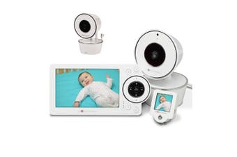"""Project Nursery 5"""" HD Video Baby Monitor with Mini Monitor + Additional Camera Unit"""