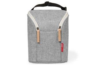 Skip Hop Double Bottle Thermal Bag Grey Melange