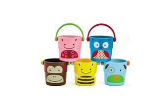 Skip Hop Explore & More Zoo Stack & Pour Buckets Kids Bath Toy