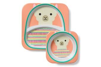 Skip Hop Zoo Kids Melamine Bowl Plate Set Llama