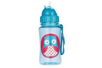 Skip Hop Zoo Kids Straw Drink Bottle Owl