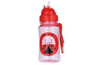 Skip Hop Zoo Kids Straw Drink Bottle Ladybug