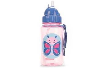 Skip Hop Zoo Kids Straw Drink Bottle Butterfly