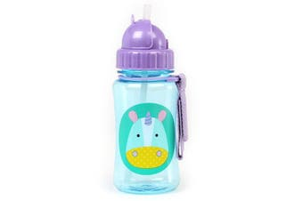 Skip Hop Zoo Kids Straw Drink Bottle Unicorn