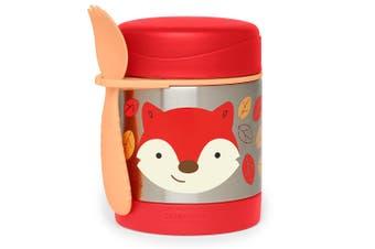 Skip Hop Zoo Kids Stainless Steel Insulated Food Jar Fox