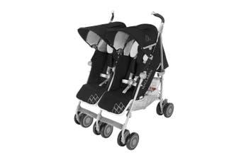 Maclaren Twin Pram Techno Double Stroller Black