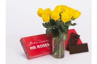 Yellow Roses & Chocolate (6 - 12 Stems)