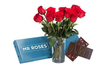 Sublime Red Roses & Chocolate (16 - 21 Stems)